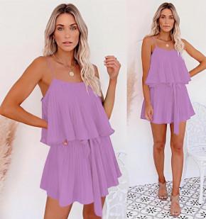 Дамска рокля солей 5199 светло лилава