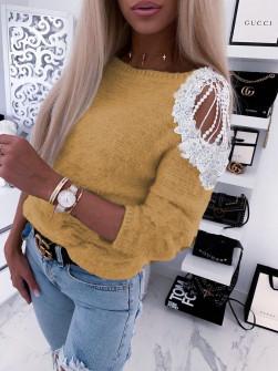 Γυναικεία εντυπωσιακή μπλούζα 2872 μουσταρδί