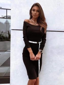 Έξωμο φόρεμα 2664 μαύρο