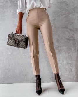 Γυναικείο εντυπωσιακό παντελόνι 5949 μπεζ