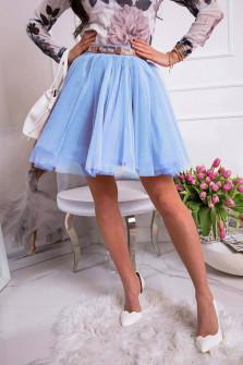 Γυναικεία φούστα τούλι 3574 γαλάζια