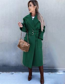 Γυναικείο εντυπωσιακό παλτό 6122 πράσινο
