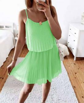 Γυναικείο φόρεμα σολέιγ 5868 πράσινο