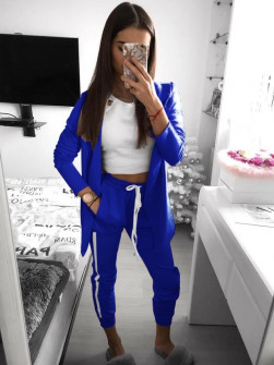 Γυναικείο σετ σακάκι και παντελόνι 3972 μπλε