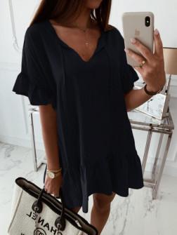 Γυναικείο χαλαρό μπλουζοφόρεμα 5110 μαύρο