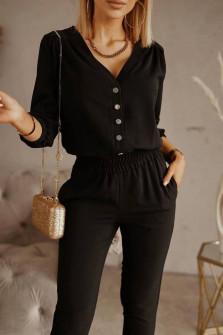 Σετ σετ πουκάμισο και παντελόνι 21244 μαύρο