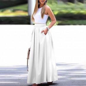 Γυναικεία μακριά φούστα 5002 άσπρη