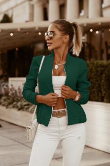 Γυναικείο μπουφάν με λάστιχο 3088 πράσινο
