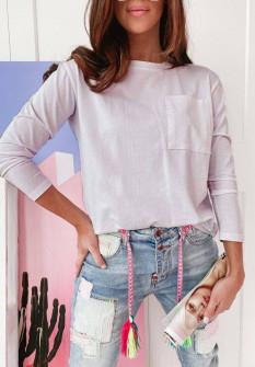 Γυναικεία απλή μπλούζα 51037 άσπρη