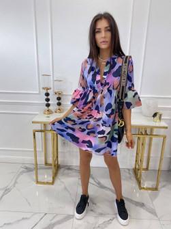 Γυναικείο φόρεμα με εντυπωσιακό ντεσέν 581805