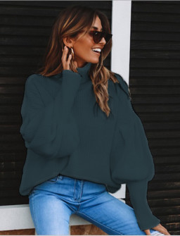 Γυναικείο πουλόβερ ζιβάγκο 2530 σκούρο μπλε