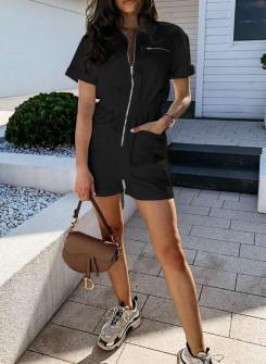 Γυναικεία ολόσωμη φόρμα 93111 μαύρη