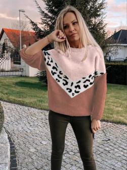 Γυναικείο πουλόβερ 71006 ροδακινί