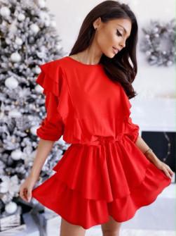 Γυναικεία εντυπωσιακό φόρεμα 1909 κόκκινο