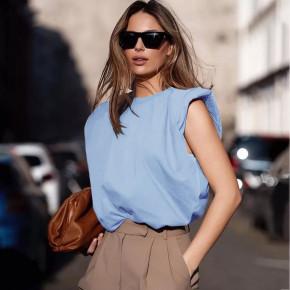 Γυναικείο αμάνικο μπλουζάκι 5090 γαλάζιο