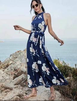 Γυναικείο φόρεμα με φλοράλ ντεσέν 635708