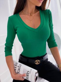 Γυναικεία μπλούζα με στρογγυλή λαιμόκοψη 6032 πράσινο