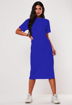 Γυναικείο φόρεμα μίντι 13387 μπλε
