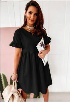 Γυναικείο χαλαρό φόρεμα 14676 μαύρο