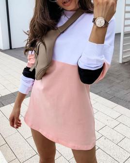 Γυναικείο αθλητικό μπλουζοφόρεμα 3958 ροζ