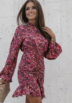 Γυναικείο φόρεμα με γιακά ζιβάγκο 2174201