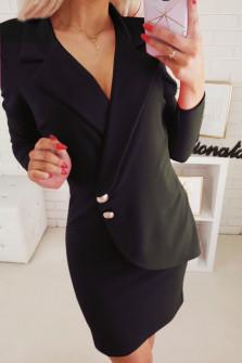 Γυναικείο φόρεμα κρουαζέ 2029 μαύρο