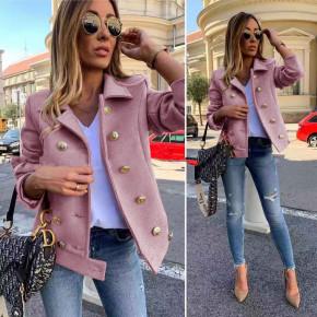 Γυναικείο σακάκι με εντυπωσιακά κουμπιά 3788 ροζ