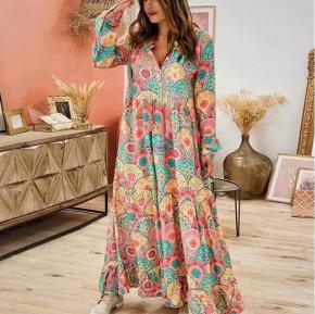 Γυναικείο μακρύ χαλαρό φόρεμα 21585