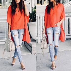 Γυναικείο μπλουζοφόρεμα 3561 πορτοκαλί