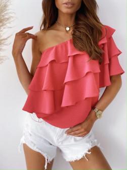 Γυναικεία έξωμη μπλούζα 5121 κοραλί