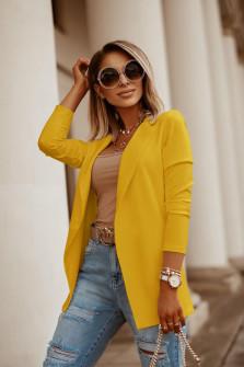 Γυναικείο σακάκι 5018 κίτρινο