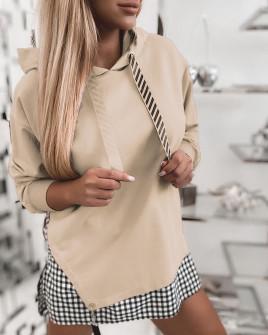 Γυναικείο εντυπωσιακό φούτερ 4094 μπεζ