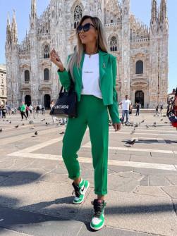 Γυναικείο σετ σακάκι-παντελόνι 21402 πράσινο