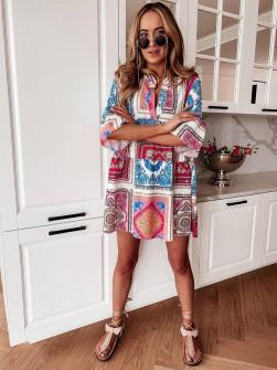 Γυναικείο φόρεμα με εντυπωσιακό ντεσέν 581801