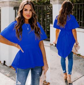 Γυναικείο μπλουζοφόρεμα με κορδόνι 5063 μπλε