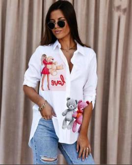 Γυναικείο πουκάμισο με στάμπα 548205