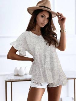 Γυναικείο εντυπωσιακή μπλούζα 00823 γκρι