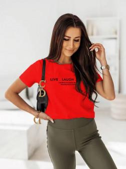 Γυναικείο κοντομάνικο 0090911 κόκκινο