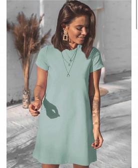 Γυναικείο μπλουζοφόρεμα 5166 μέντα