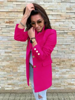 Γυναικείο σακάκι με χρυσά κουμπιά 5016 φούξια