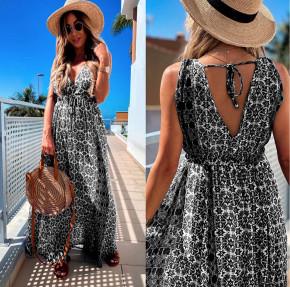 Γυναικείο μακρύ φόρεμα 2391 μαύρο