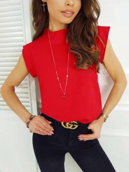 Γυναικεία κοντομάνικη μπλούζα 5025 κόκκινο