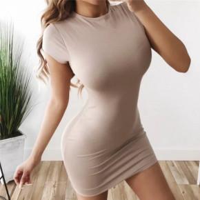 Γυναικείο εφαρμοστό φόρεμα 3689 μπεζ
