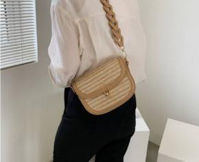 Γυναικεία εντυπωσιακή τσάντα B401 μπεζ