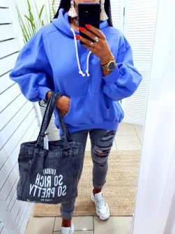 Γυναικείο φούτερ 10555 μπλε