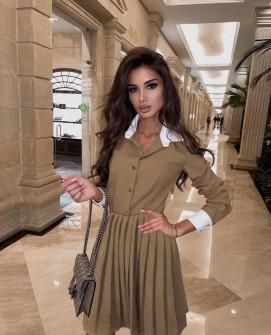 Γυναικείο κλος φόρεμα 54004 μπεζ