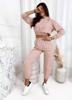 Γυναικείο σετ φούτερ και φόρμα 3582 ροζ