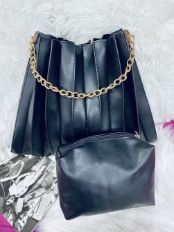 Γυναικεία τσάντα με νεσεσέρ 1104 μαύρη