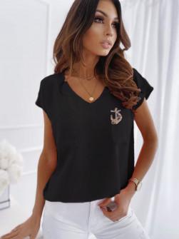 Γυναικεία μπλούζα με καρφίτσα 1983 μαύρη