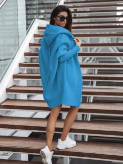 Γυναικεία ζακέτα με ραφή στην πλάτη 2267 μπλε